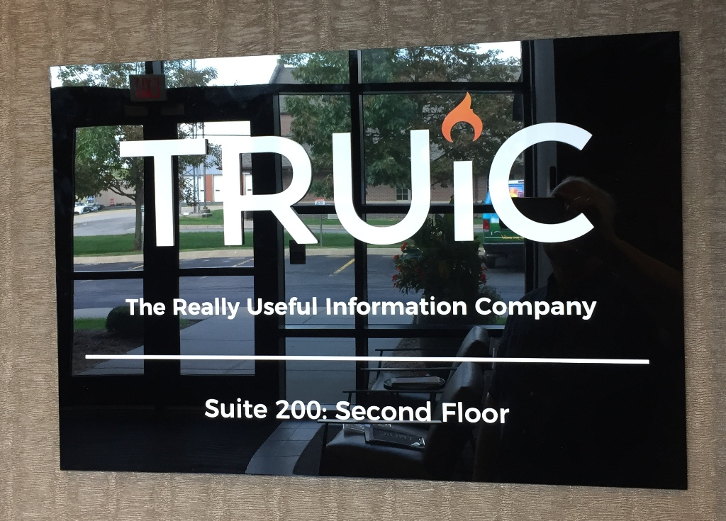 Beautiful Black Acrylic Lobby Sign