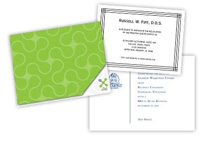 Einstein Printing's design team can help you create a notecard that will be noticed.