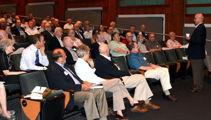 Gen Hayden addresses the audience