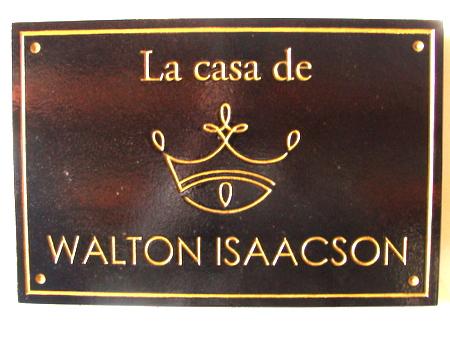 I18917 - Engraved Mahogany Property Name Sign