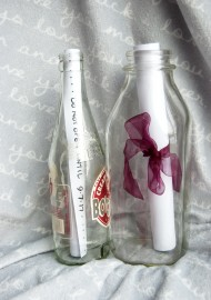 DIY message in a bottle project.