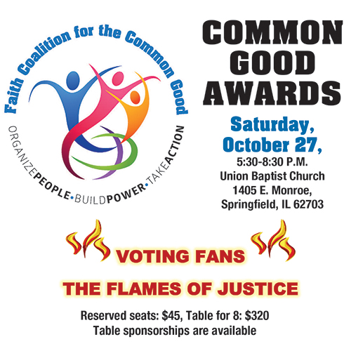 On October 27, 2018, the Faith Coalition for the Common Good held 'The Common Good Awards' Banquet at Union Baptist Church