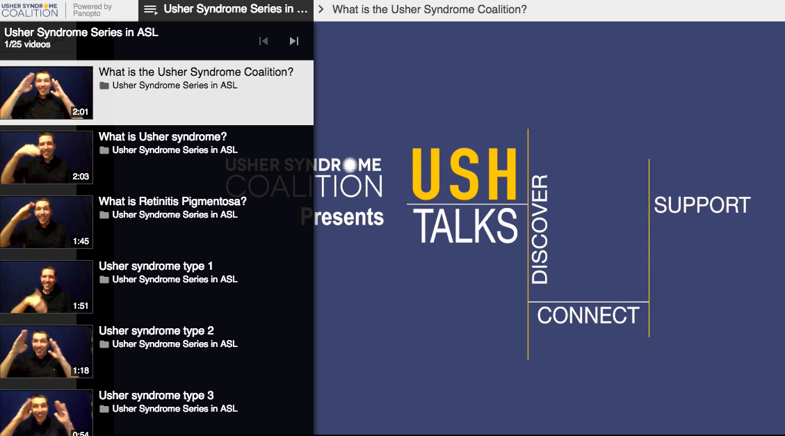 About Usher Syndrome in ASL
