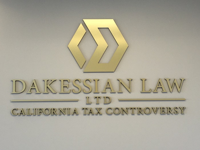 Brushed Gold Lobby Sign
