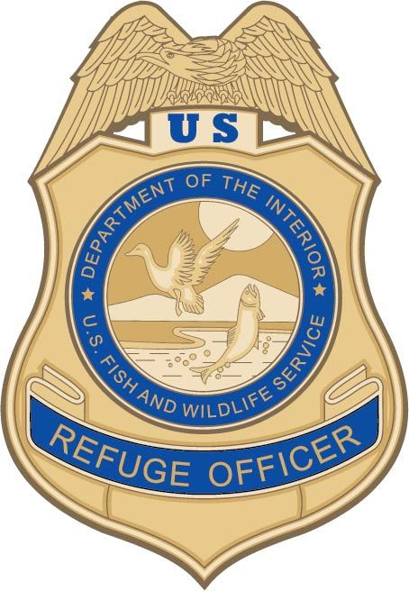 U30733 -Carved 3-D Wall Plaque of the  Wildlife Refuge Officer Badge, Department of the Interior