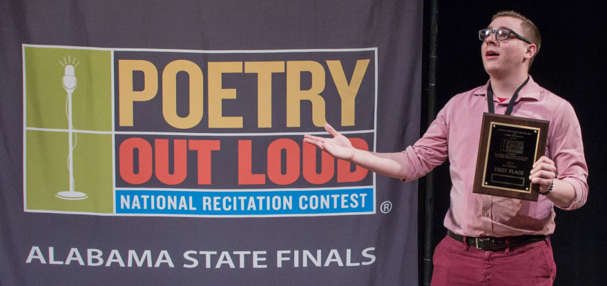 Alabama Announces Garrett Whalen as 2019 Poetry Out Loud Champion