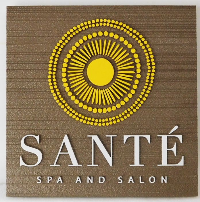 GB16125 - Carved HDU  Sign for Sante Spa and Salon