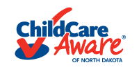 Child Care Aware of North Dakota logo with red checkmark