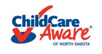 Child Care Aware of North Dakota logo with red checkmark
