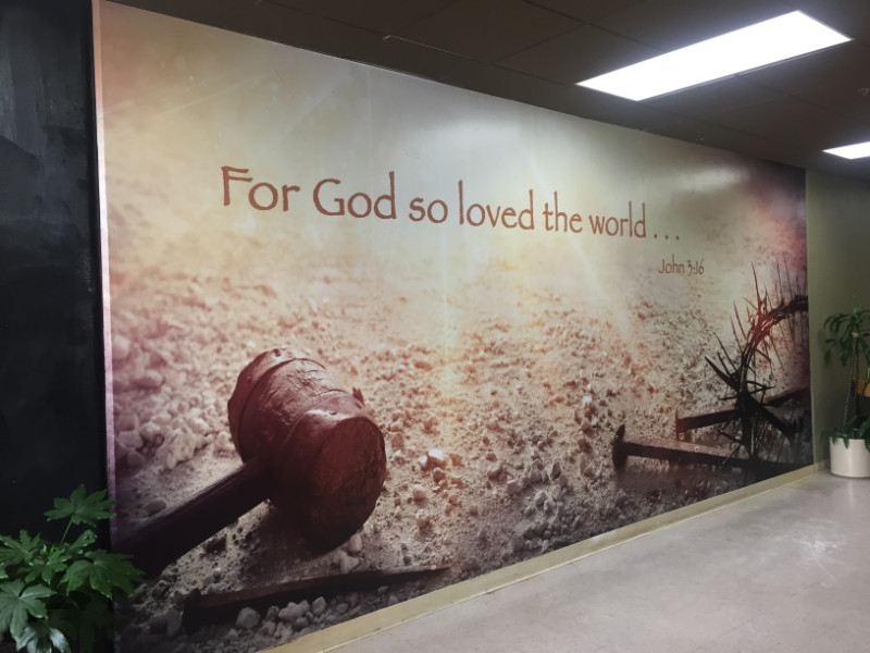 Church Wall Mural