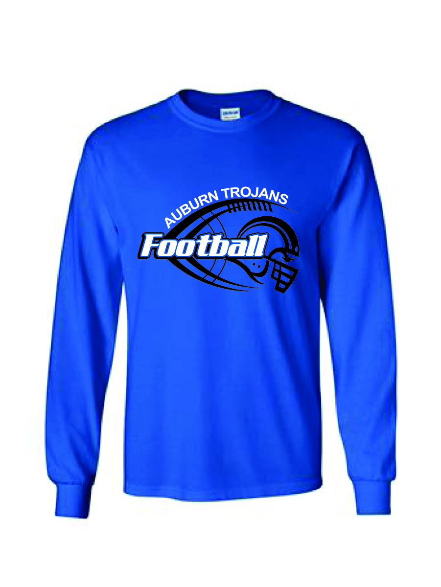 Auburn Football Helmet Long Sleeve (Blue)