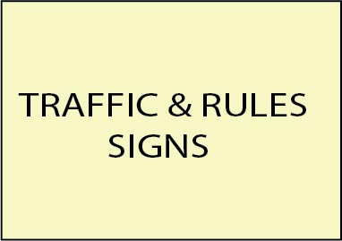 E14500 - Golf Course Traffic and Rules Signs Made from Wood and HDU