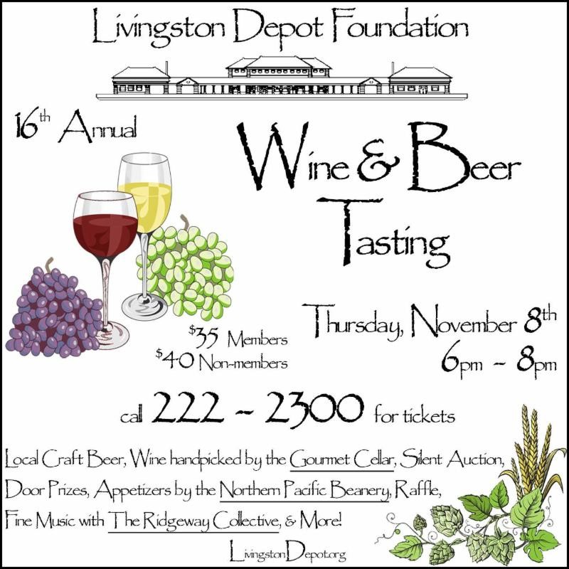 16th Annual Beer and Wine Tasting: Livingston Depot Foundation