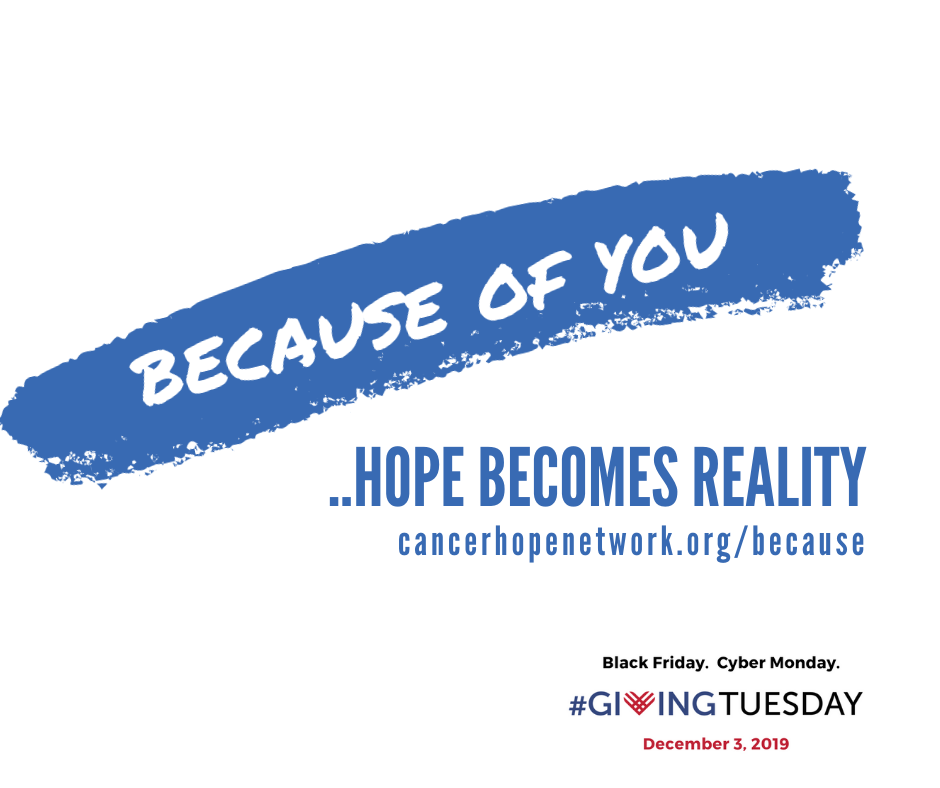 Because of you - Giving Tuesday