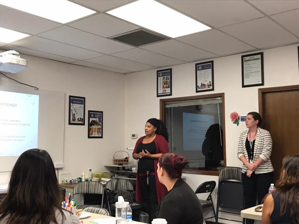 Education the community on human trafficking