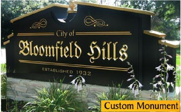M6741 - Custom City Entrance Monument Sign