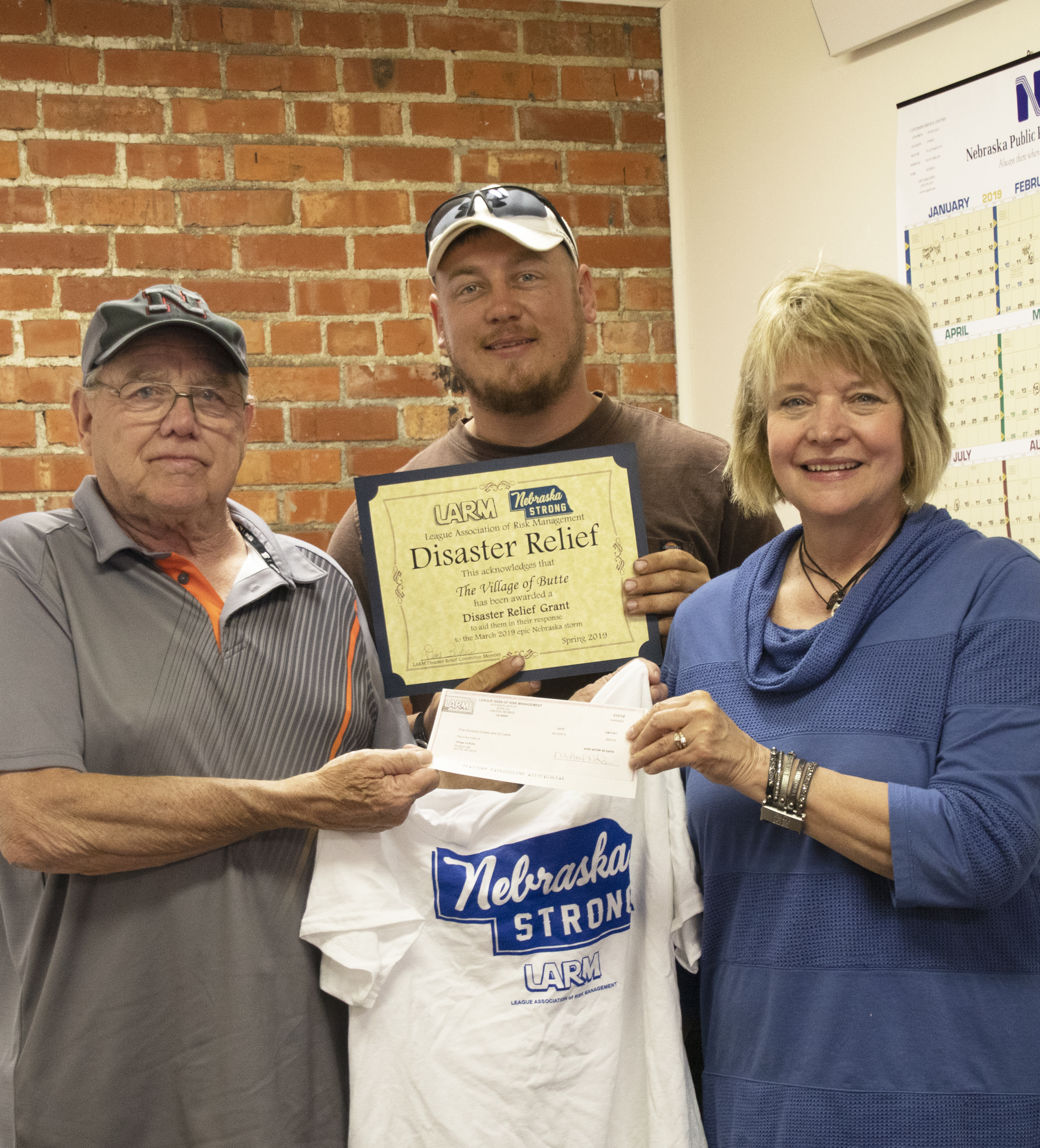 $500 Disaster Funds to the Village of Butte