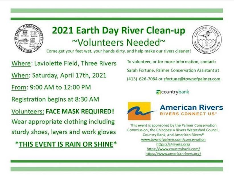 2021 Earth Day River Clean-up - Town of Palmer