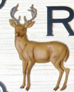M5456 - 3D Carved HDU Deer Applique