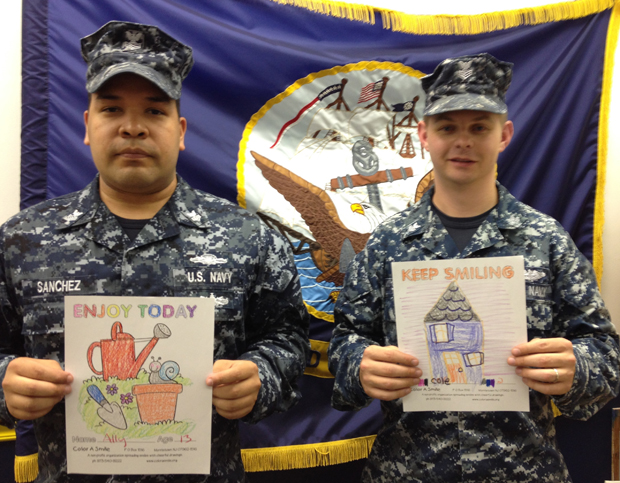 SEND OUR DRAWINGS TO SOMEONE IN THE MILITARY