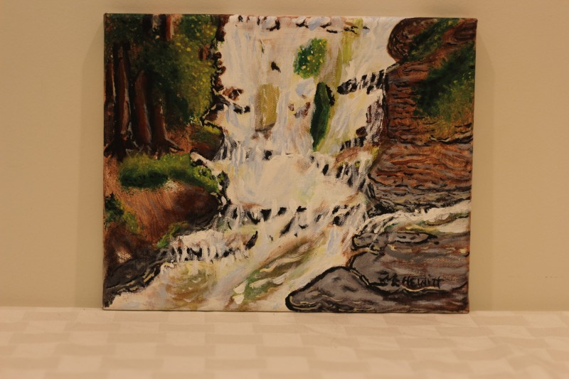 """Pinecreek PA"" - Donated by the artist, Marilyn Hewitt"