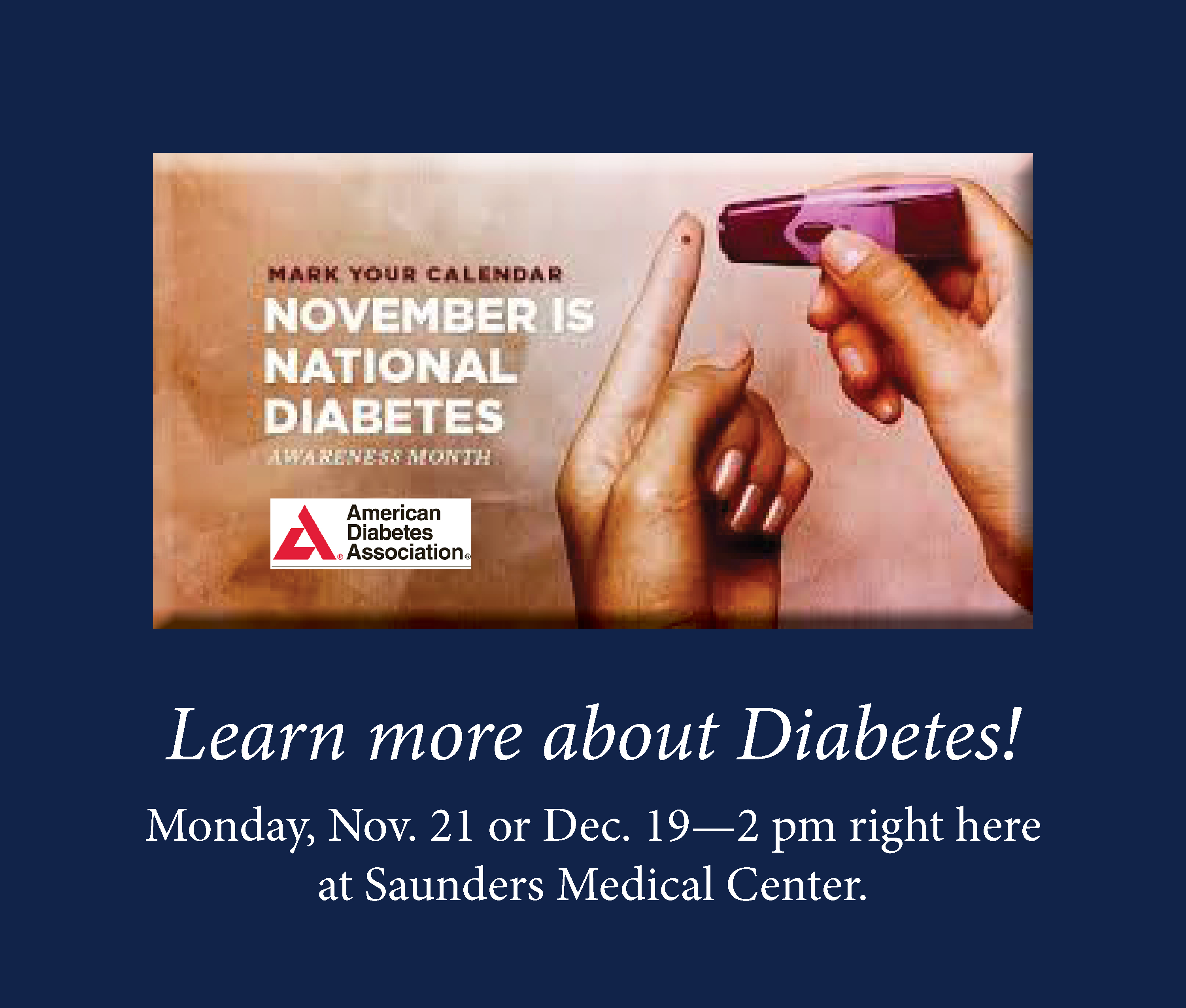 Diabetes - Free Info Meeting