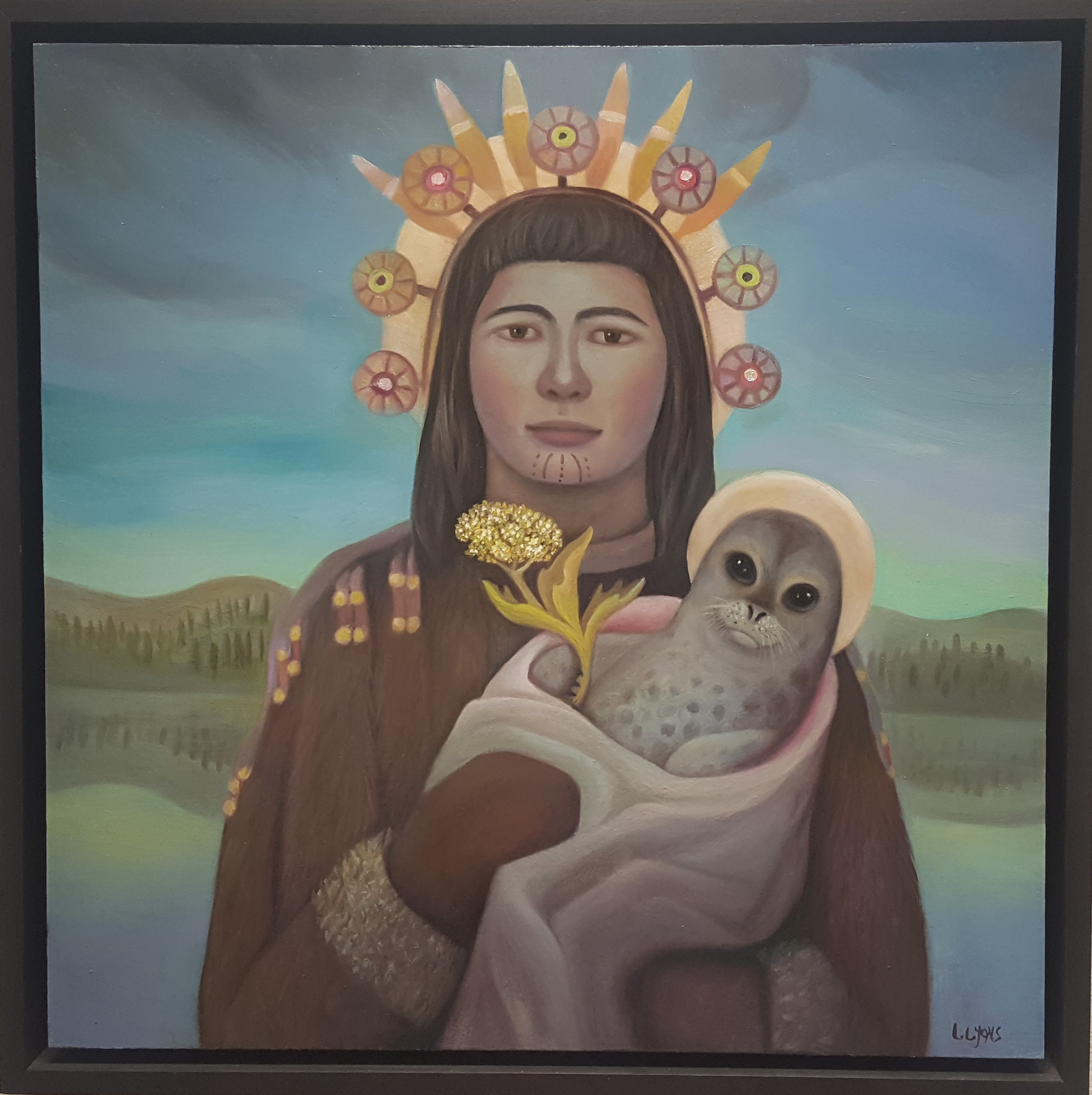 "Linda Infante Lyons - ""St. Katherine of Karluk"" oil on canvas, 2016"