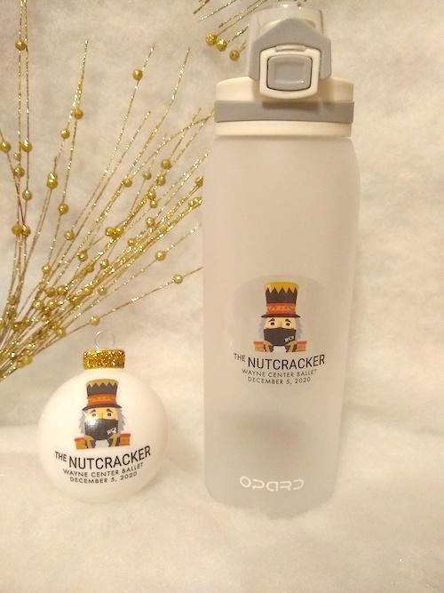Nutcracker Water Bottle & Ornament Package