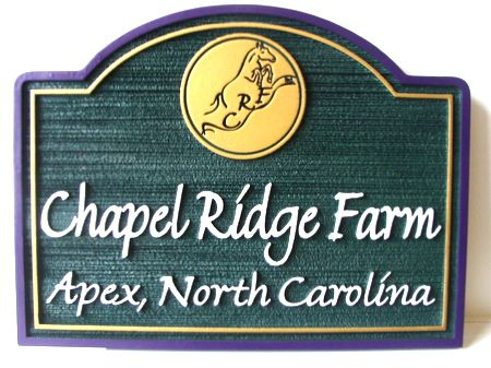 O24236 - Chapel Ridge Farm Sign, Sandblasted and Engraved HDU