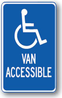 Handicap Van Accessible-12 inch x 18 inch