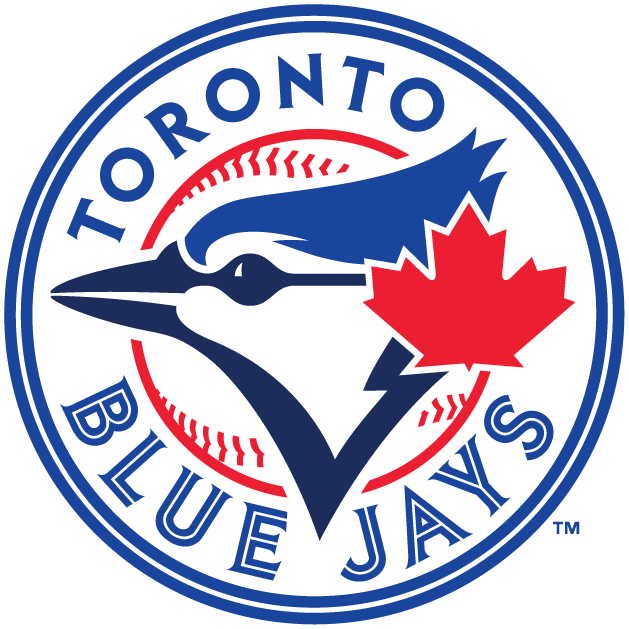 WP-1040 - Carved Wall Plaque  of Logo for Toronto Blue Jays  MLB,  Artist Painted
