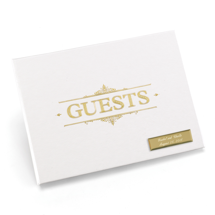 Baroque Guest Book - Gold