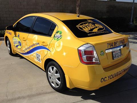 Car wraps for franchises Orange County