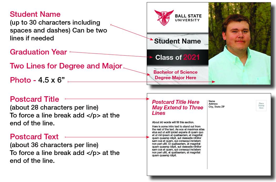 Graduation Postcard Design 1B