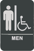Restroom Sign w/Chair - Men