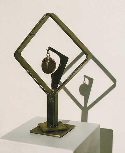 """Untitled, Stone & steel, 13"""" tall x 9-1/2"""" wide x 4"""" deep"""
