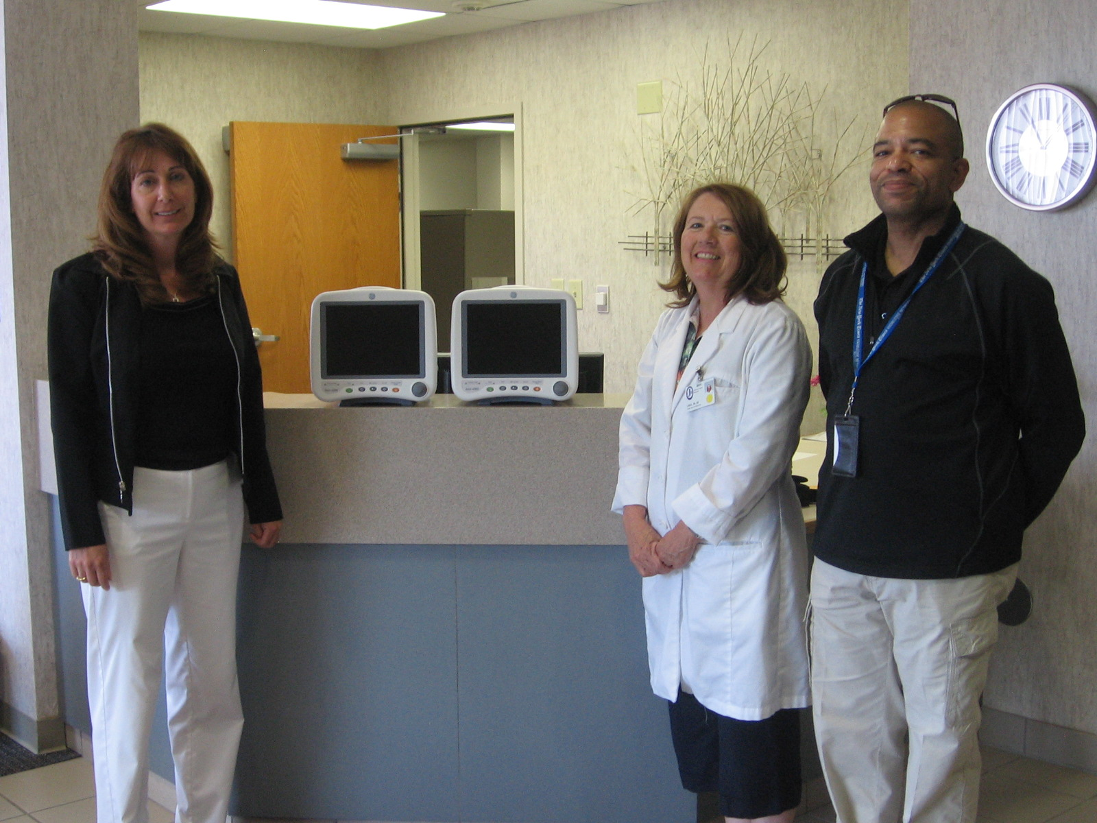 Hospital receives two blood pressure monitors