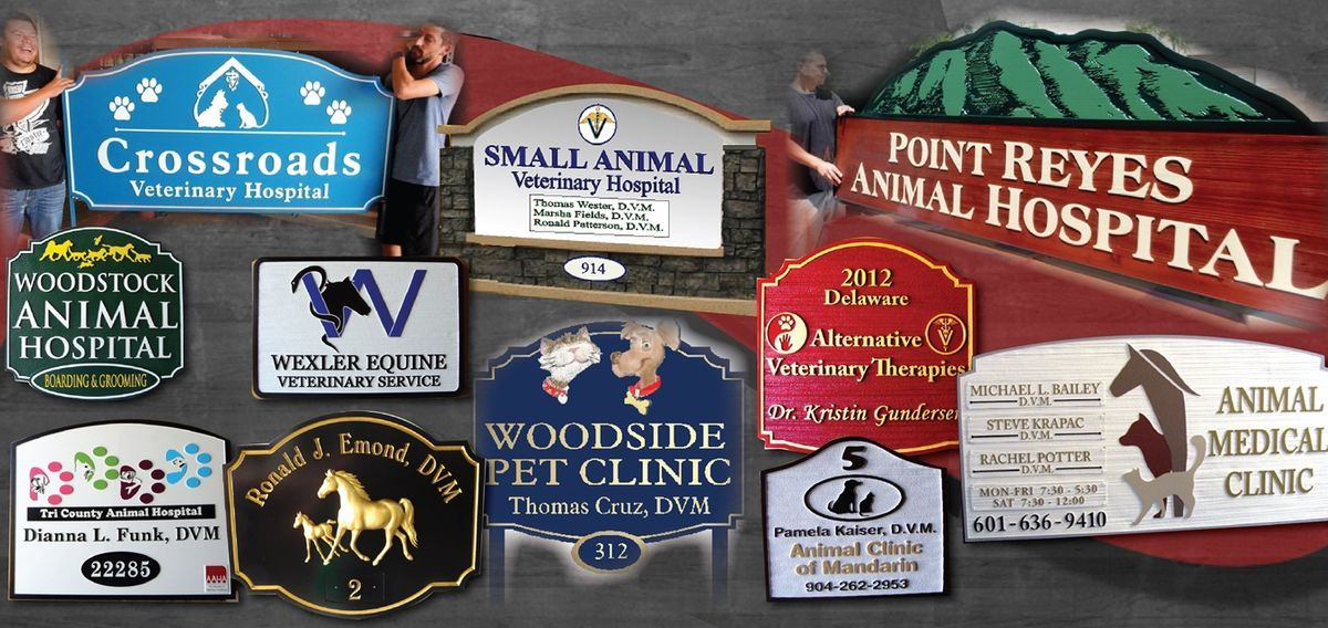 Veterinary Carved Wood Sign