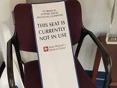 This Seat Currently Not in Use - Chair Banner