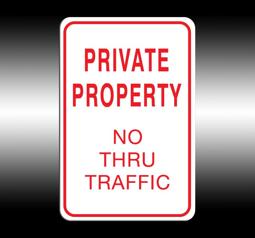 No Thru Traffic