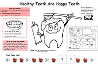 Oral Health Fun Sheet