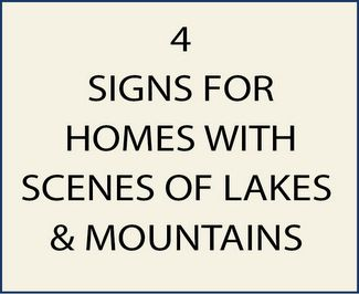4.  M22300- Signs with Mountain Scenes with Lakes