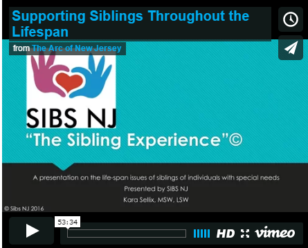 Webinar: Supporting Siblings Throughout the Lifespan