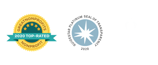Great Nonprofits 2020 Top Rated Nonprofit & Guidestar Platinum Seal of Transparency 2020 & ARM Member