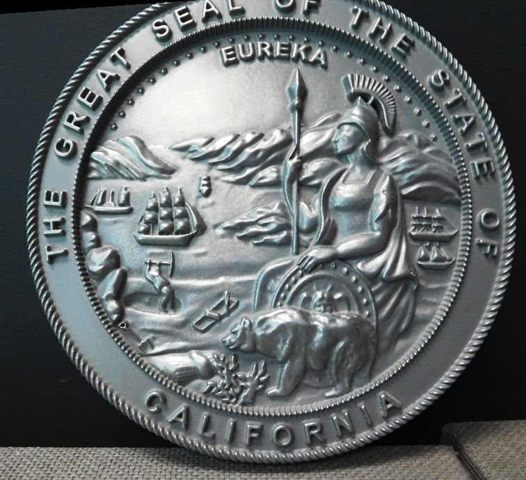 MD4050 - Great Seal of the State of California, Nickel-Silver 3-D