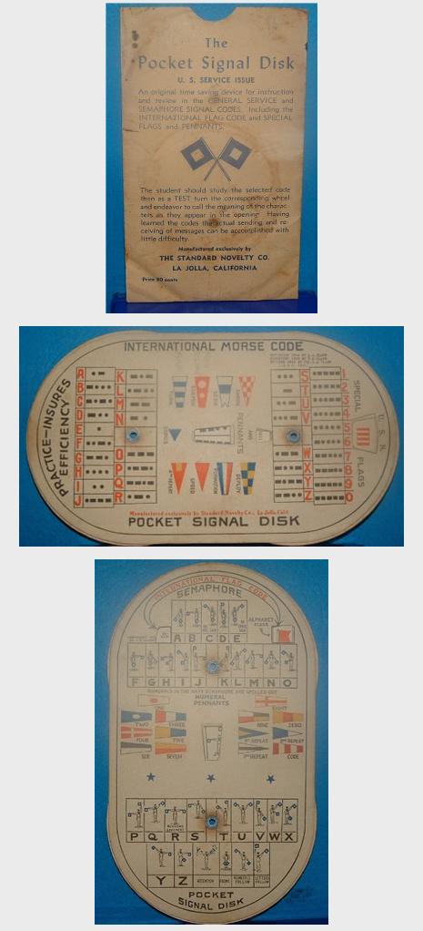 U.S. Service Issue Pocket Signal Disk