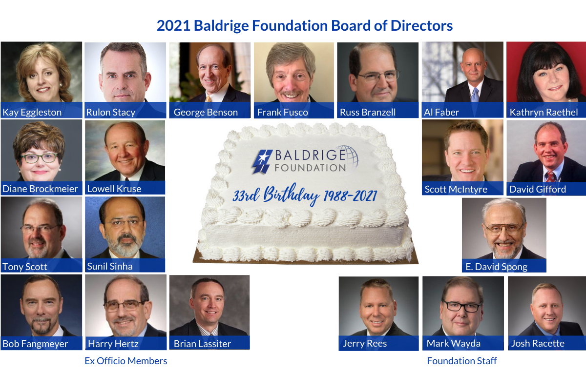 Baldrige Foundation Celebrates 33rd Anniversary of Its Founding