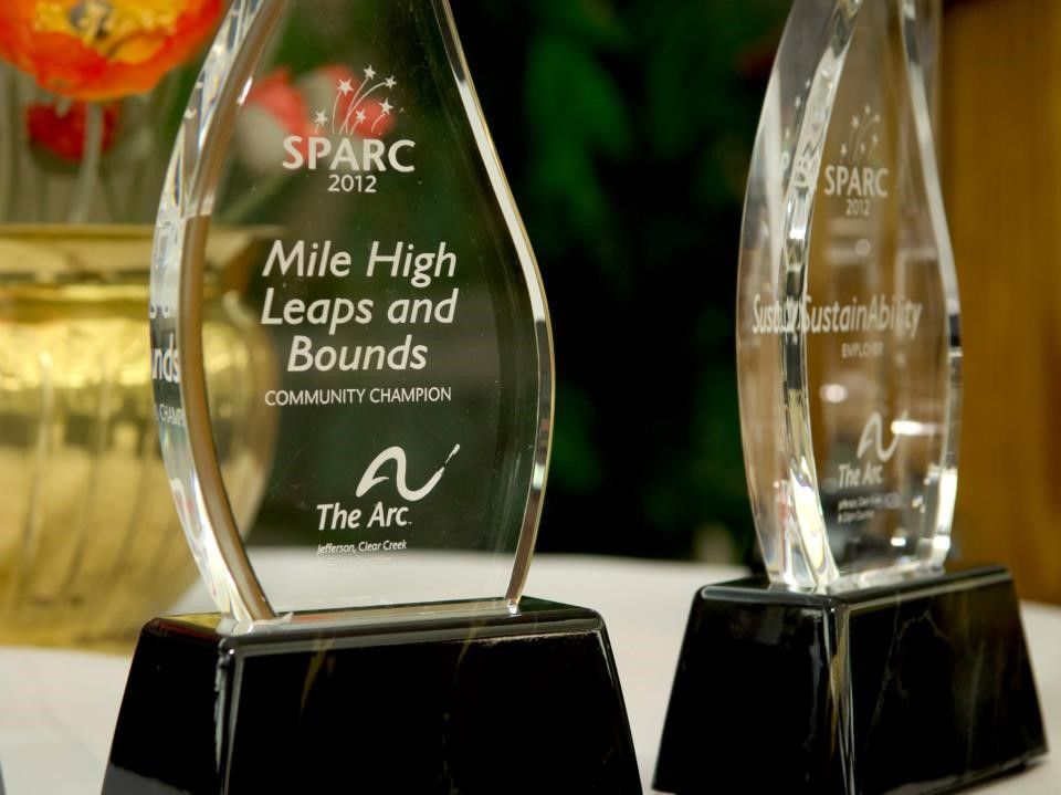 Two Arc SPARC Award Trophies