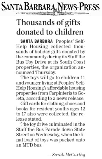 Thousands of Gifts Donated to Children
