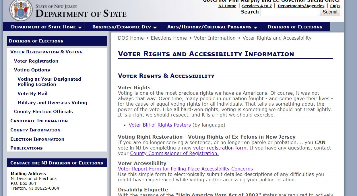 Voter Rights and Accessibility Information